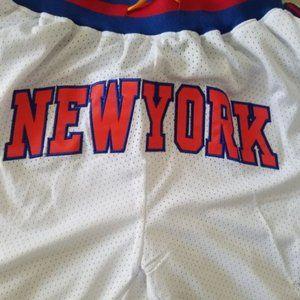 NWT Just Don New York Knicks NBA Shorts White